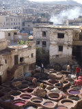 Tanneries  Fes  Morocco  North Africa  Africa