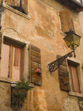 Old Wall with Shuttered Windows  Lazise  Lake Garda  Veneto  Italy  Europe