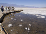 Badwater  the Lowest Point in North America  Death Valley National Park  California  USA