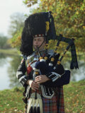 Bagpiper  Scotland  United Kingdom  Europe