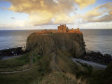 Dunnottar Castle  Dating from the 14th Century  at Sunset  Aberdeenshire  Scotland  United Kingdom