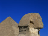 Great Sphinx and One of the Pyramids  Giza  UNESCO World Heritage Site  Cairo  Egypt