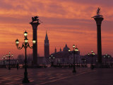 View across St Marks Square Towards San Giorgio Maggiore at Sunrise  Venice  Veneto  Italy