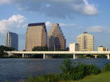 River  Bridge and Skyline of Downtown in the State Capital  Austin  Texas  USA