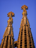 Spires of the Sagrada Familia  the Gaudi Cathedral  in Barcelona  Cataluna  Spain  Europe