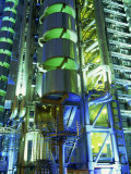 Lloyds Building at Night  City of London  London  England  United Kingdom  Europe