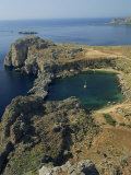 Rocky Coastline of St Paul&#39;s Bay  Near Lindos  Rhodes  Dodecanese Islands  Greek Islands  Greece