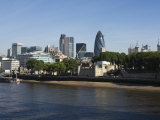 City of London Financial District Seen from the River Thames  London  England  United Kingdom