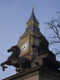 Big Ben and the Statue of Boudica  Westminster  London  England  United Kingdom  Europe