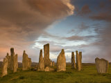 Standing Stones of Callanish at Dawn  Callanish  Near Carloway Isle of Lewis  Scotland  UK