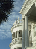 Detail of Portico and Ionic Columns of 25 East Battery  Charleston  South Carolina  USA