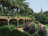 Gaudi Achitecture and Gardens  Gaudi Guell Park  Barcelona  Catalonia  Spain