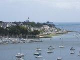 Benodet  a Popular Sailing Resort on the River Odet Estuary  Southern Finistere  Brittany  France