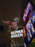 Glitter Gulch  Fremont Street  the Older Part of Las Vegas at Night  Las Vegas  Nevada  USA