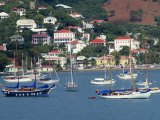 Sailing Boats Moored Off Charlotte Amalie  St Thomas  US Virgin Islands  West Indies  Caribbean