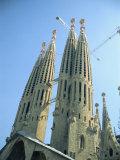 Gaudi's Cathedral  Sagrada Familia  Barcelona  Catalonia  Spain  Europe