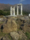 Remaining Doric Columns  Samothrace  Ionian Islands  Greece  Europe
