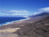 View of Playa De Cofete  Jandia Peninsula  Fuerteventura  Canary Islands  Spain  Atlantic  Europe