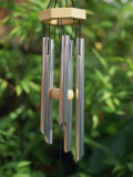 Metal Wind Chimes Hanging Outside