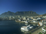 View of Victoria and Albert Waterfront with Table Mountain Behind  Cape Town  South Africa  Africa