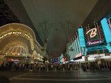 Fremont Street  the Older Part of Las Vegas  at Night  Las Vegas  Nevada  USA