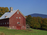 Exterior of a Large Barn  Typical of the Region  on a Farm in Vermont  New England  USA