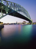 Sydney Harbour Bridge  Circular Quay Pier  Sydney  New South Wales  Australia  Pacific