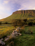 Benbulben at Sunset  Approximately 500M  Near Sligo  County Sligo  Connacht  Republic of Ireland