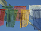 Close-Up of Prayer Flags at Swayambunath  Kathmandu  Nepal