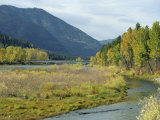 Clark Fork River in the Fall  at Tarkio  Rocky Mountains  West Montana  USA