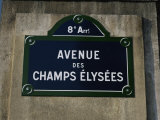 Avenue Des Champs Elysees Street Sign  Paris  France  Europe