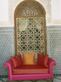 Sofa in Courtyard of Riad Enija  the Medina  Marrakech  Morocco  North Africa  Africa