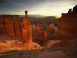 Backlit Hoodoos and Thor's Hammer  Bryce Canyon National Park  Utah  USA