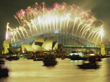 Spectacular New Year's Eve Firework Display  Sydney  New South Wales  Australia  Pacific