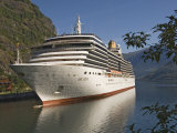 Cruise Ship Berthed at Flaams  Fjordland  Norway  Scandinavia  Europe