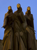 Sculpture of the Feast of the Three Musicians  National Drama Theatre  Vilnius  Lithuania