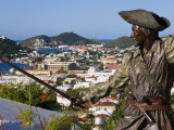Sculpture in Blackbeard&#39;s Castle  St Thomas  US Virgin Islands  West Indies