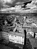 Infra Red Image of Siena across Piazza Del Campo from Tower Del Mangia  Siena  Tuscany  Italy