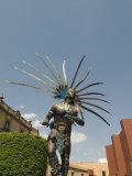 Statue of Indian Dancer  Queretaro  Queretaro State  Mexico  North America