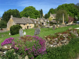 Cemetery at the Small Village of Snowhill  in the Cotswolds  Gloucestershire  England  UK