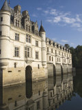 Chateau De Chenonceau Reflected in the River Cher  Indre-et-Loire  Pays De La Loire  France  Europe