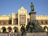 Statue of Adam Mickiewicz in Front of the Cloth Hall on the Main Square  Krakow  Malopolska  Poland