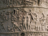 Detail of Trajan's Column  Rome  Lazio  Italy  Europe