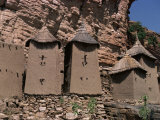 Grain Stores in Irelli Village  Bandiagara Escarpment  Dogon Area  Mali  West Africa
