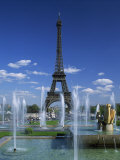 Eiffel Tower with Water Fountains  Paris  France  Europe