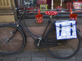 Old Bicycle with a Delft Design Saddlebag Amsterdam  Netherlands  Europe