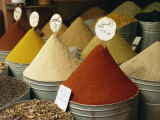 Spices for Sale in Spices Souk  the Mellah  Marrakech  Morocco