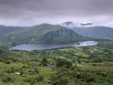 Glanmore Lake from Healy Pass  Beara Peninsula  County Kerry  Munster  Republic of Ireland  Europe