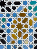 Azulejos Tile Work in the Mudejar Style  Real Alcazar  Seville  Andalusia  Spain