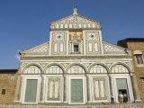 San Miniato Al Monte Church in the Oltrarno District  Florence  Tuscany  Italy  Europe